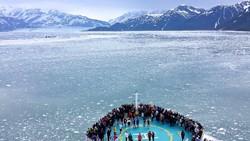 Cruising Hubbard glacier